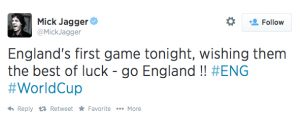 Mick Jagger's tweet heard 'round the world?