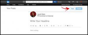 LinkedIn Pulse Save Button