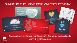 Sharing social media content for Valentine's Day