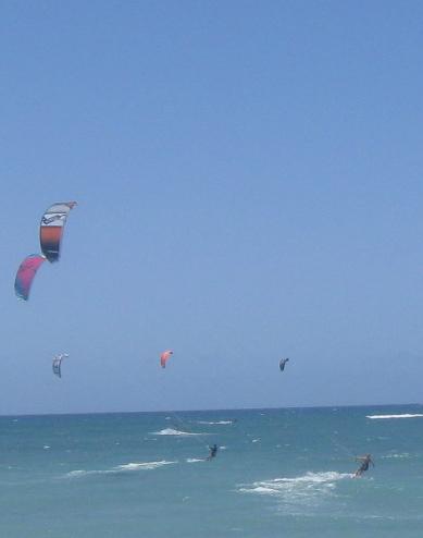 Jill and friends kitesurfing in Maui.